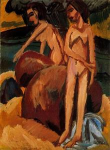 Ernst Ludwig Kirchner - bagnanti a mare