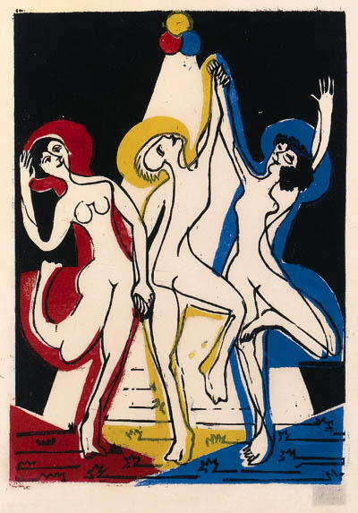 colore danza di Ernst Ludwig Kirchner (1880-1938, Germany) | WahooArt.com