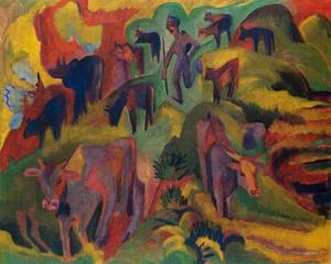 Ernst Ludwig Kirchner - Mucche al pascolo