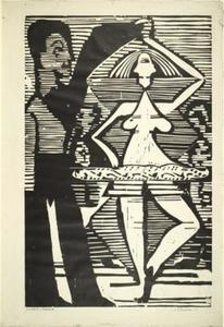 Ernst Ludwig Kirchner - danza coppia