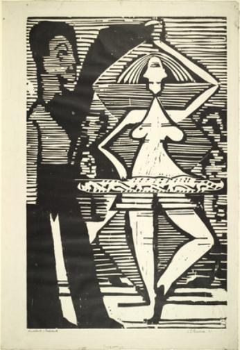 danza coppia, 1933 di Ernst Ludwig Kirchner (1880-1938, Germany)