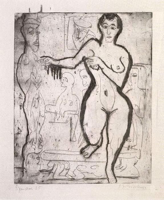 donna nuda di Ernst Ludwig Kirchner (1880-1938, Germany)