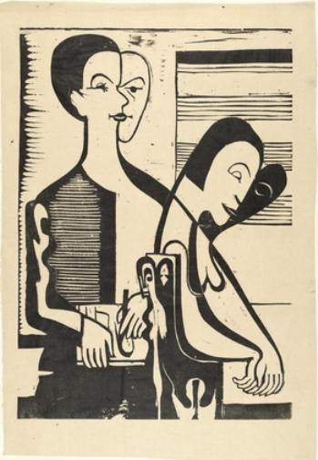 Autoritratto con Erna di Ernst Ludwig Kirchner (1880-1938, Germany)