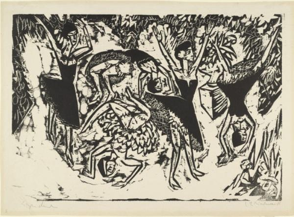 Capriole acrobatiche Dancers di Ernst Ludwig Kirchner (1880-1938, Germany) | WahooArt.com