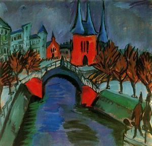 Ernst Ludwig Kirchner - il rosso fiume elisabeth in berlino