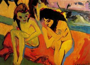Ernst Ludwig Kirchner - due ragazze