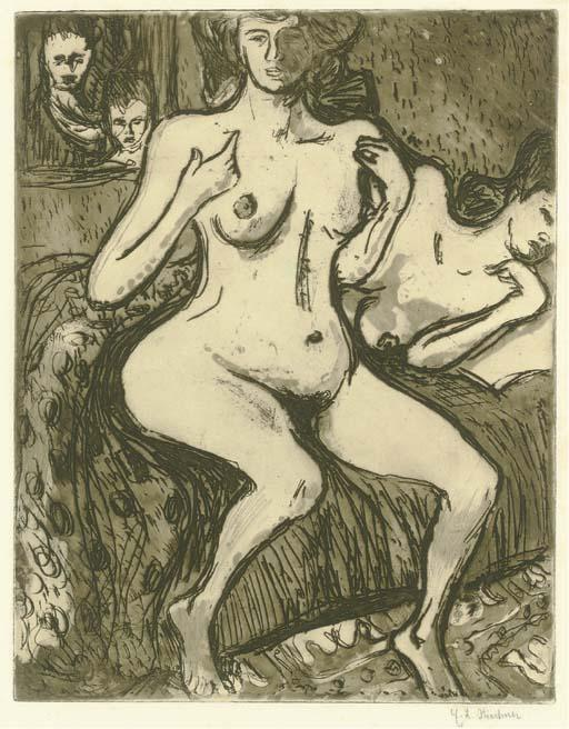 Due sorelle di Ernst Ludwig Kirchner (1880-1938, Germany) | WahooArt.com