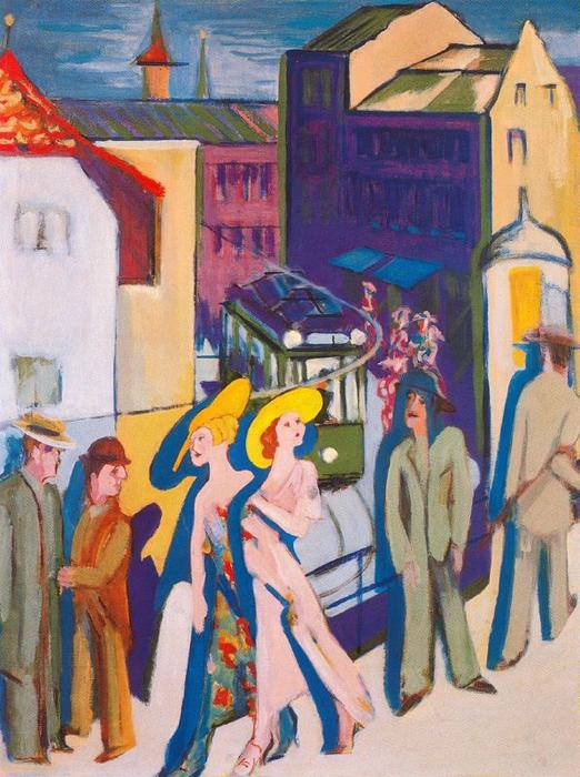 urbano immagine di Ernst Ludwig Kirchner (1880-1938, Germany)