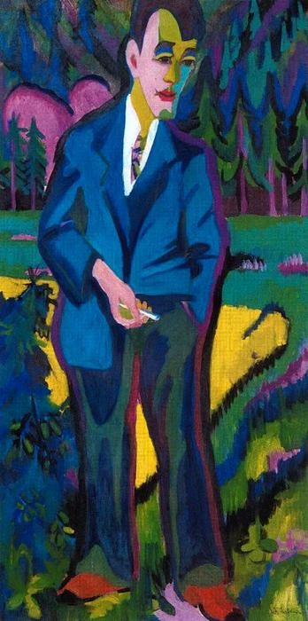 Giovane artista , hans schiess di Ernst Ludwig Kirchner (1880-1938, Germany)