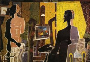 Georges Braque - il pittore e la sua model