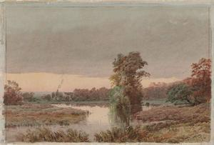 Jasper Francis Cropsey - Terreno paludoso at Twilight