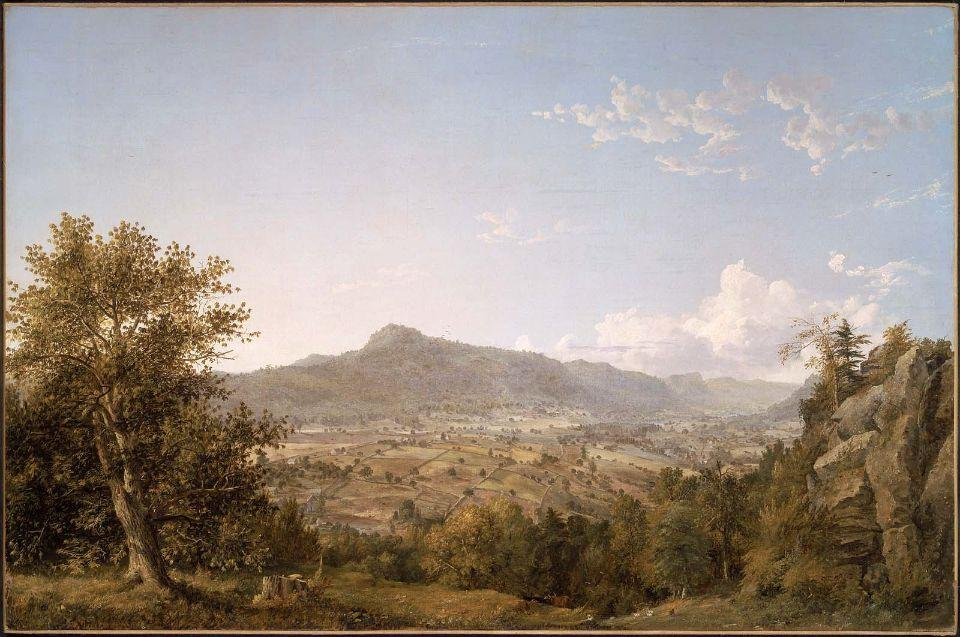 schatacook montagna , Housatonic Valle , Nel connecticut di Jasper Francis Cropsey (1823-1900, United States) | WahooArt.com