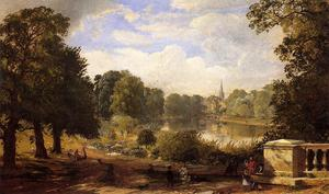 Jasper Francis Cropsey - il serptentine , Hyde Parco , Londra