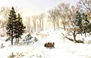Jasper Francis Cropsey - inverno sulla rivensdale road , Hastings-on-Hudson , a new york