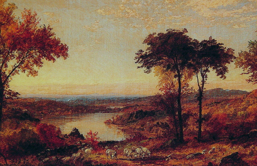 Wyoming Valley, Pennsylvania di Jasper Francis Cropsey (1823-1900, United States) | WahooArt.com