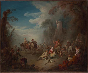 Jean-Baptiste Pater - Truppe a riposo