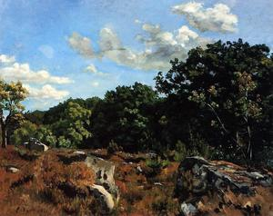 Jean Frederic Bazille - Paesaggio a Chailly