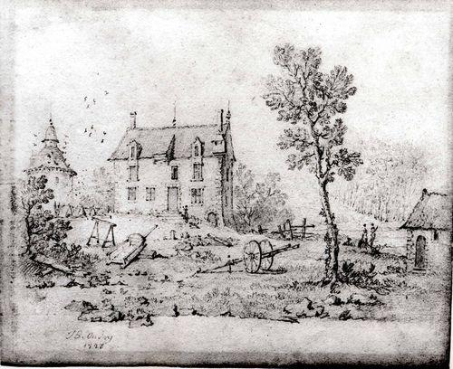 Country Farmhouse di Jean-Baptiste Oudry (1686-1755, France)