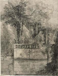 Jean-Baptiste Oudry - Lavoro Lattice e Reflecting Pool a Arcueil