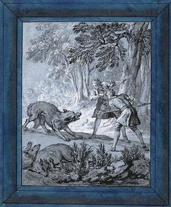Jean-Baptiste Oudry - Uomini attaccanti Wolves