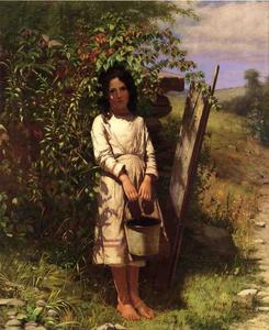 John George Brown - Picking Blackberry
