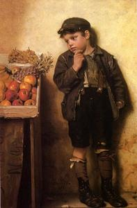 John George Brown - Eying la Fruit Stand