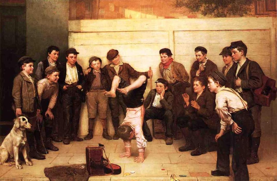 tacchi oltre testa, 1894 di John George Brown (1831-1913, United Kingdom) | WahooArt.com