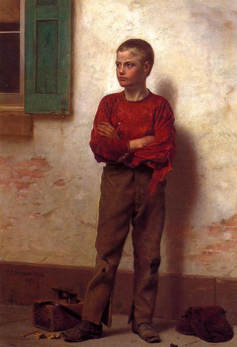 no essere `trifled` con, 1877 di John George Brown (1831-1913, United Kingdom) | WahooArt.com