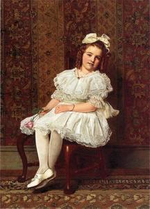 John George Brown - Ritratto di Miss Gibson