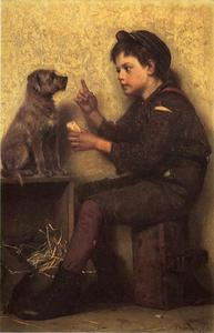 John George Brown - La Lezione