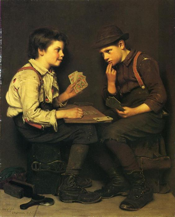 The Little Joker di John George Brown (1831-1913, United Kingdom) | WahooArt.com