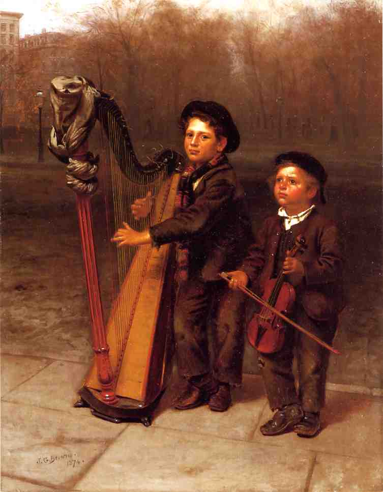 Ordinare Riproduzioni D'arte | The Little Passeggini, 1874 di John George Brown (1831-1913, United Kingdom) | WahooArt.com