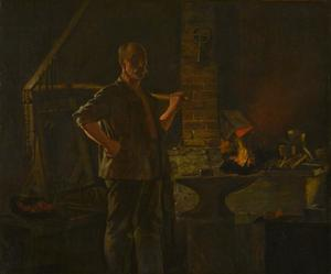 John George Brown - The Village Blacksmith