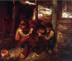 Jonathan Eastman Johnson - al `maple` zucchero campo