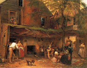 Jonathan Eastman Johnson - la vita nel mezzogiorno ( aka my old kentucky Domestico )