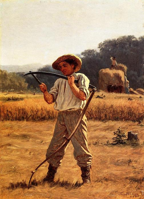 Uomo con Scythe di Jonathan Eastman Johnson (1824-1906, United Kingdom)