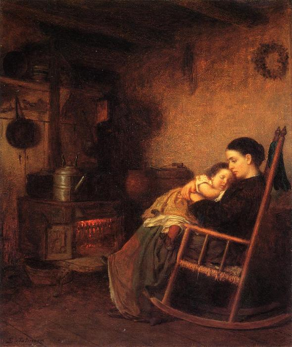 madre e figlio di Jonathan Eastman Johnson (1824-1906, United Kingdom) | WahooArt.com