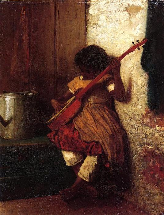 Instinct Musical di Jonathan Eastman Johnson (1824-1906, United Kingdom)