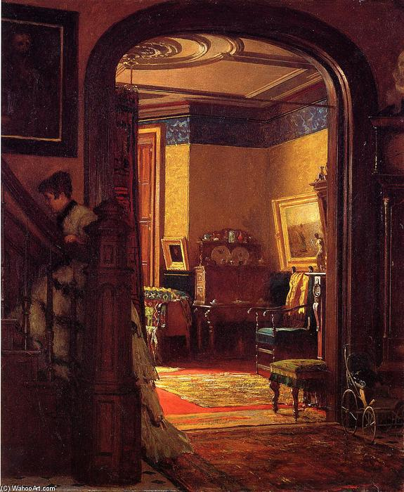 no a casa di Jonathan Eastman Johnson (1824-1906, United Kingdom)