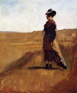 Jonathan Eastman Johnson - donna su un collina