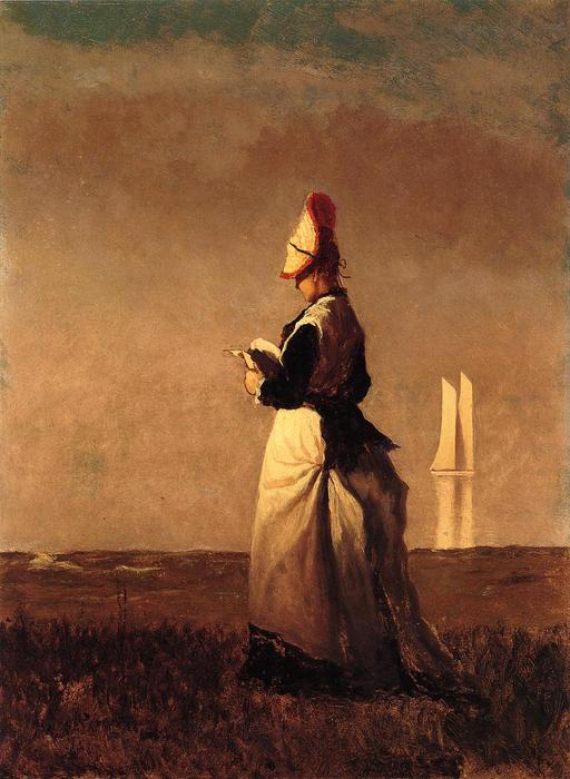 donna leggere di Jonathan Eastman Johnson (1824-1906, United Kingdom) | WahooArt.com