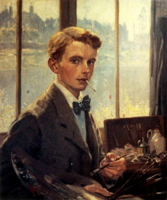Self-portrait 2 di Jorge Apperley (George Owen Wynne Apperley) (1884-1960, United Kingdom) | Copia Pittura | WahooArt.com