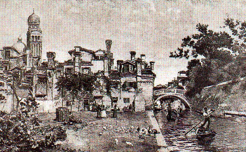 a `larghetto` in venezia di José Villegas Cordero (1844-1921, Spain)