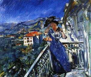 Lovis Corinth (Franz Heinrich Louis) - sul `balcony` in bordighera