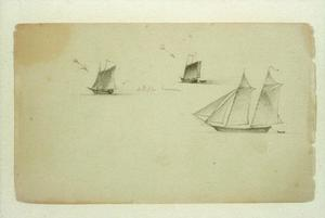 Martin Johnson Heade - tre studi di un due-master `schooner`