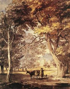 Paul Sandby - CowGirl nel Windsor Great Park