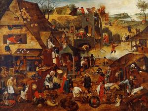 Pieter Bruegel The Younger - Fiamminghi Proverbi