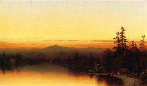 Sanford Robinson Gifford - Un Twilight in Adirondacks 1