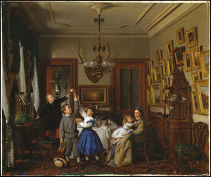Seymour Joseph Guy - il concorso per la bouquet . la famiglia di robert Gordon in loro a new york Dining-Room
