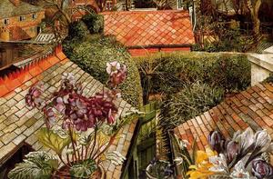Stanley Spencer - Cookham . fiori in a finestra